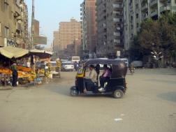 In den Straßen von Kairo.