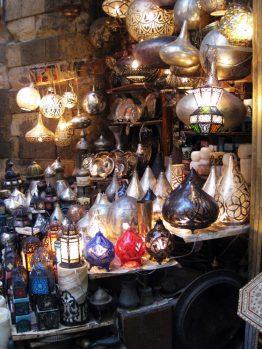 Lampengeschäft in Kairo