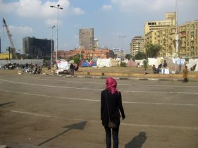 besetzter Platz in Kairo